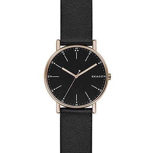 Skagen Herren Quarz Uhr mit Leder Armband SKW6401
