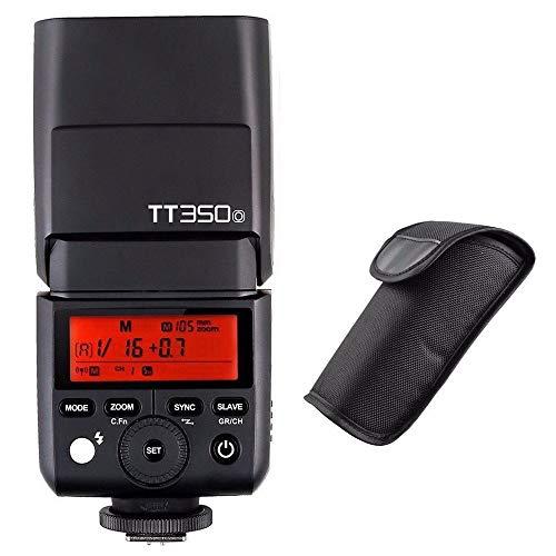 Godox TT350O 2.4G HSS 1 / 8000s TTL GN36 Flash Speedlite de la cámara para Olympus/Panasonic Mirrorless Cámara Digital con NAMVO Difusor