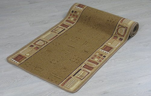 New Tappeto passatoia Ameland Rosse e beige dimensioni diverse (67 x 700 cm, Beige)