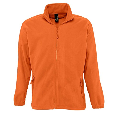 Sols Herren Outdoor Fleece Jacke North (Large) (Orange)