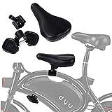 Asiento de bicicleta para niños Asiento de bicicleta eléctrico Juego de pedales de sillín Montaje delantero Bicicleta para bebés para niños F - Rueda D-Y-U Accesorios para bicicletas de fitness