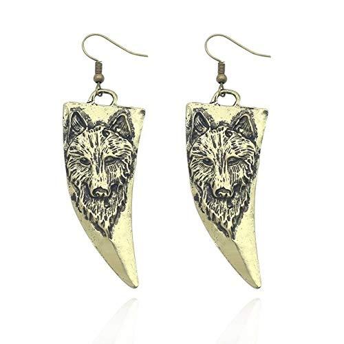 Vintage Ohrringe Für Frauen Punk Wolf Tierohrungen Weiblicher Ohrschmuck