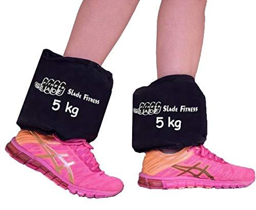 Tornozeleira Caneleira Peso 5 Quilos Cada Par Academia Exercícios De Perna Torneada Em Casa Capota Treino Slade Fitness