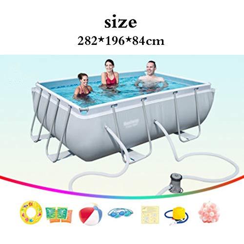 Piscinas Párese Adulto casa Infantil Estanque de Peces Exterior Gran Infantil Grande (Color : Blanco, Size : 282 * 196 * 84cm)