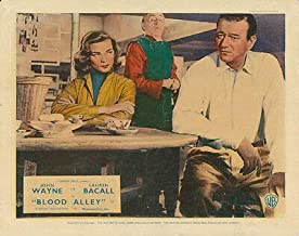 Blood Alley Original British Lobby Card John Wayne Lauren Bacall 1955