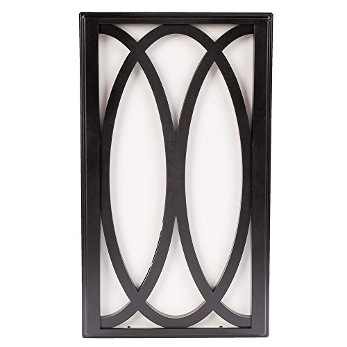 Hampton Bay Wireless or Wired Door Bell in Black Frame with White Insert