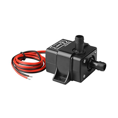 MOUNTAIN_ARK DC 12V Mini Submersible Water Pump 63 Gal Pump for Aquarium Fish Tank Hydroponic Fountains (Over Voltage Protection, Only Work with Voltage of DC 10.5V-13.5V)