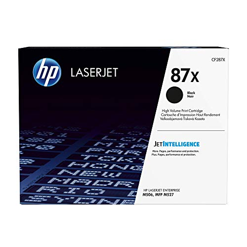 HP 87X (CF287X) Schwarz Original Toner mit hoher Reichweite für HP Laserjet Enterprise M506, HP Laserjet Enterprise M527