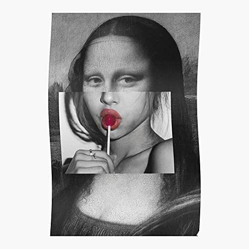 Mona Lisa Sucking Lollipop - Póster de decoración de interior más impresionante y elegante disponible actualmente