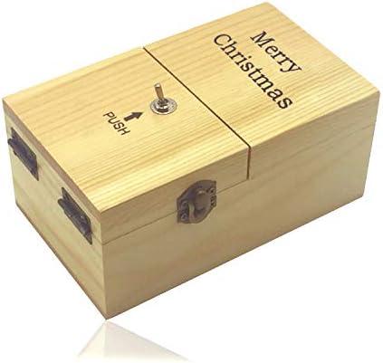 Maijia Mini Jouet dr/ôle Cadeaux cr/éatifs bo/îte Inutile Laissez-Moi Seul Machine pour Anniversaire et f/ête Cadeau Jouet Jeu Brown, Merry Christmas