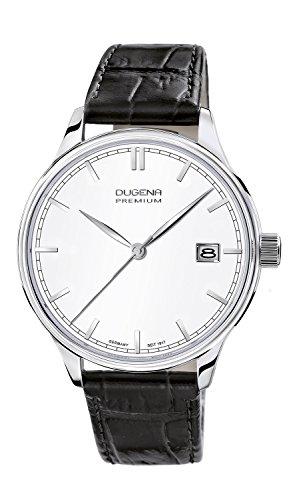 Dugena Herren-Armbanduhr Sigma - Traditional Classic Analog Quarz Leder 7000250