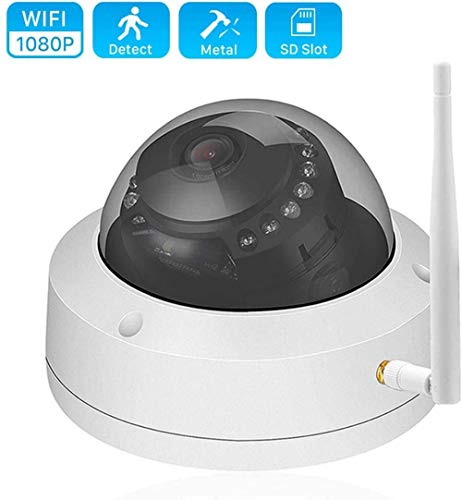 ASDASD 1080P 960P 720P Cámara WiFi Aplicación CamHi ONVIF Cámara IP IR 20M Visión Nocturna a Prueba de vandalismo Seguridad para el hogar CCTV Cámara Exterior Tarjeta SD @ 720P con Adaptador_2.8mm