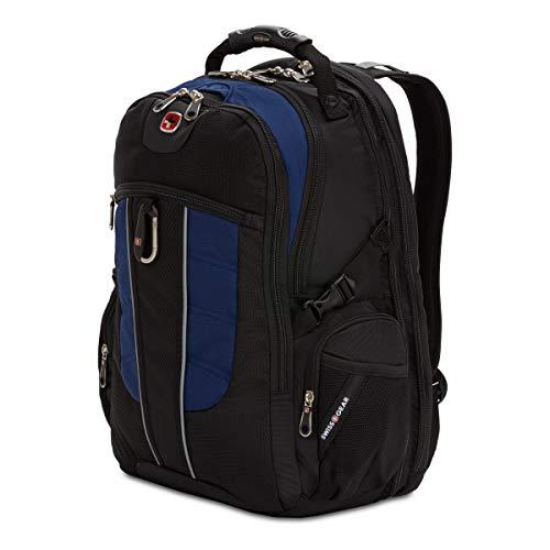 SWISSGEAR 1753 ScanSmart Laptop Backpack. Abrasion-Resistant & Travel-Friendly Laptop Backpack (Black/Navy)