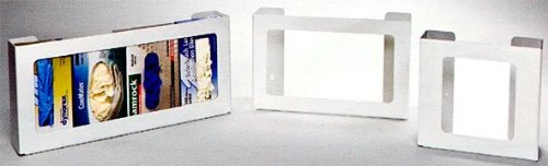 2-Box security Horizontal Plastic Box Spring new work Glove P WHITE Dispenser HEAVY-DUTY