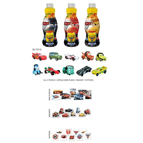 Surprise Drinks Drink & Play Natural Spring Water with Multivitamin Juice and Many Sielzeug Surprises (6 x 300 ml) (Cars)