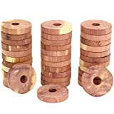 Iconikal Aromatic Wood Cedar Rings - Clothing and Cloth Storage, 36-Count