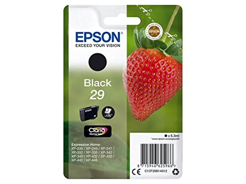 Original Epson – Epson Expression Home XP de 342 (29/c13t29814012) – Cartucho de tinta Negro – 175 Páginas – 5,3 ml