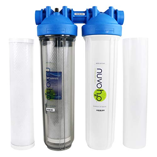 NuvoH2O Manor + Taste Complete Water Softener System, Includes 1 Manor Water Softener and 1 Taste Replacement Cartridge, Complete System