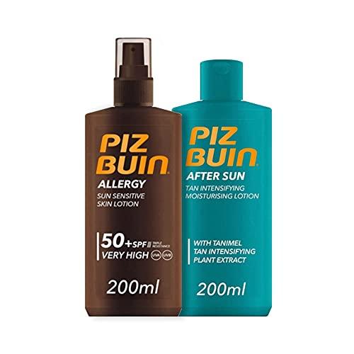 Piz Buin, Protector Solar Allergy Spray SPF 50 + After Sun Loción Hidratante