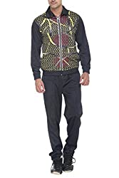 Warm Up  Mens Graphic Print Polyester Track Suit