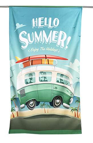 Tex family Toalla de playa de rizo Hello Summer Bus tamaño grande 90 x 170 cm