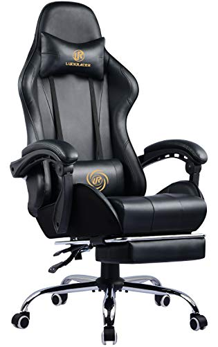 LUCKRACER Gaming Chair Massage with footrest Office Chair with Massage...