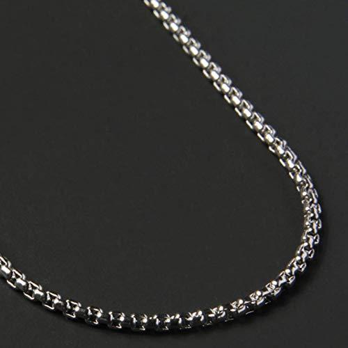 Collar de Cadenas de Caja de Moda Simple, Collar de Cadena de Acero de Titanio para Hombres, Regalo de joyería para Hombres