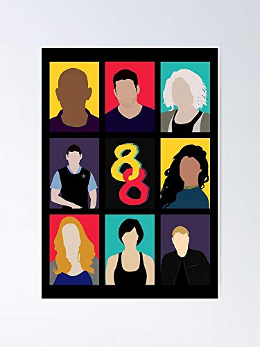 Sense8 Colors Poster - for Office Decor, College Dorm, Teachers, Classroom, Gym Workout and School Halloween, Holiday, Christmas Party ! Great Inspirational Wall Art Poster.
