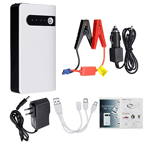 XIAOSHA Starthilfe Powerbank 20000mAh 12V Tragbarer Auto-Starthilfe Notbatterie-Booster Power Bank Wasserdicht Mit LED-Taschenlampe