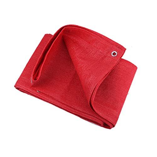 Tissu visière XXT Filet Pare-Soleil écran Solaire épaississement Balcon Jardin Isolation extérieure ombrage ombrage Filet (Color : Red, Size : 4m*5m)
