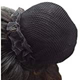 KKTOCHVC Women Bun Dancer Hair net Ballet Dance Skating Bun Cover Elastic Band Hair Nets for Bun (5pcs)(black)