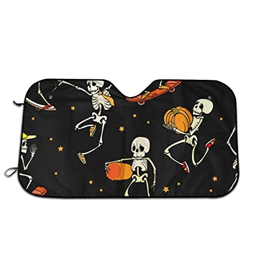 Skateboarden Skeletons Universal Size Fit 51 x 27 Inches - Voorruit Auto Truck SUV Sunshade - Interieur Accessoires