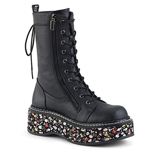 Demonia Emily - 350 Frauen Stiefel schwarz EU38 Polyurethan Gothic, Pastel Goth, Rockwear