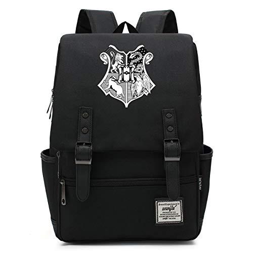 MMZ Mochila escolar de Harry Potter, mochilas para niños y niñas con estampado de Hogwarts, útiles escolares para niños 38x27x12.5cm (#19)