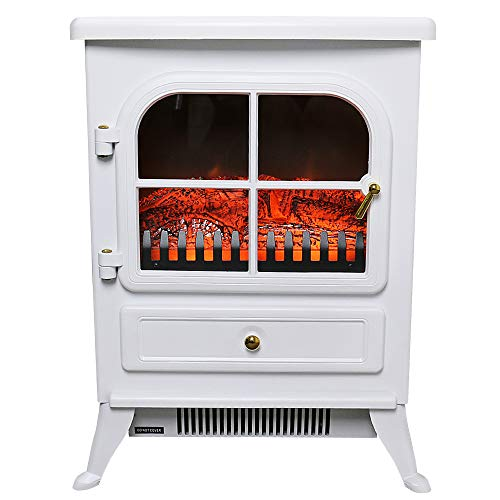Lincsfire Electric Fireplace Heater Fire Place Log Burning Effect Stove