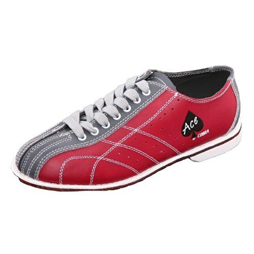 Cobra Rental Bowling-Schuhe für Damen, Rot/Grau, 21