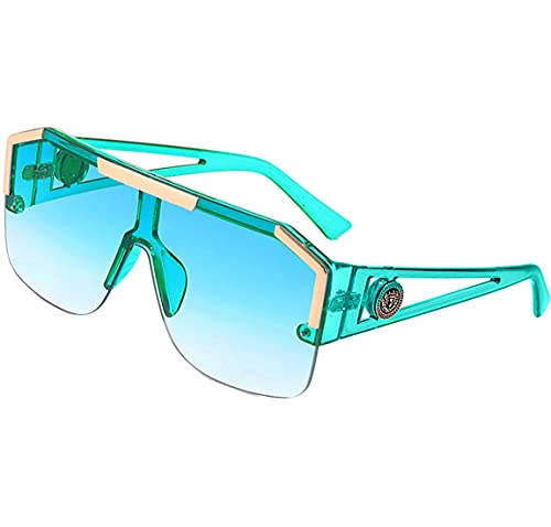 Gafas De Sol Mujer Para Señoras Grandes Gafas De Moda Estilo De Diseñador Gafas De Sol Cuadradas Para Mujer Gafas De Bloqueo De Luz Protección 100% UV400 para Viajes Conducir, Marco Ligero
