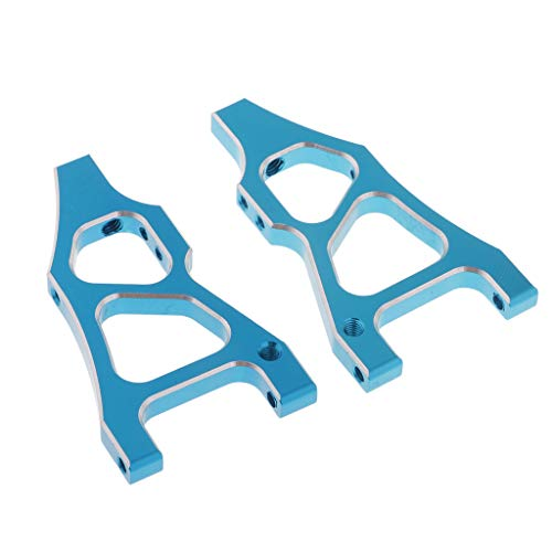 Homyl 2pcs Aluminiumlegierung Lenkung Querlenker Zubehör für 1/10 HSP 94177 RC Auto - Blau