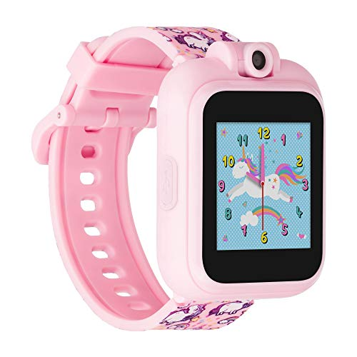 iTouch Playzoom Kids Smart Watch with Swivel Camera, Photo Filters, Video Recorder, Stopwatch, Calendar, Sound Animations, Educational and Active Games (Pink Unicorns)