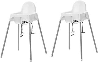 comprar comparacion 2x IKEA Antilop - Trona con cinturón de seguridad para bebé, fácil de mover gracias a sus patas extra...