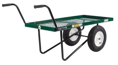 Farm Tuff Metal Deck 2-Wheel Push Cart, 24-Inch by 48-Inch, Green
