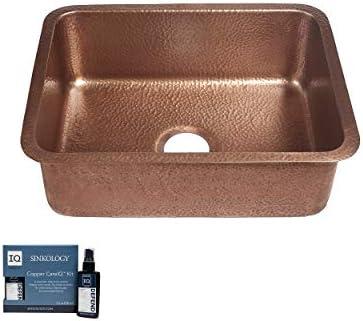 Sinkology SK201 23AC AMZ Renoir Handmade 23 CareIQ Kit Undermount Kitchen Sink Single Bowl Antique product image