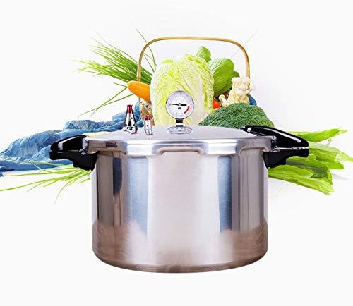 Outdoor Camping Topf Aluminiumdruckkocher, kommerzieller Hochdruckkocher mit großem Kapazität mit Druckmessgerät für Canning, Home Kitchen Multifunktionskochtopf, geeignet für Home- und Business-Gesch