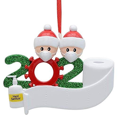 Baguo 2020 Christmas Tree Ornaments Hanging Pendant Personalized New Year Xmas Decoration Family Member Santa Claus Navidad Decoración(W2)