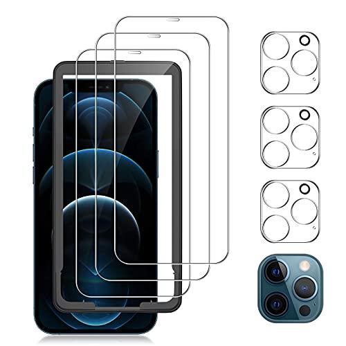laxikoo 6 Piezas Protector Pantalla Compatible con iPhone 12 Pro (6.1�), 3...