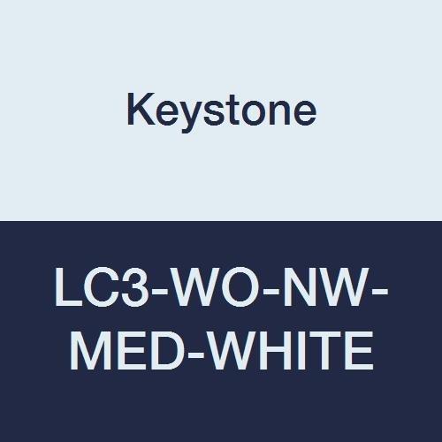 Keystone LC3-WO-NW-MED-WHITE Polypropylene Lab Columbus Mall Pockets Coat service 3