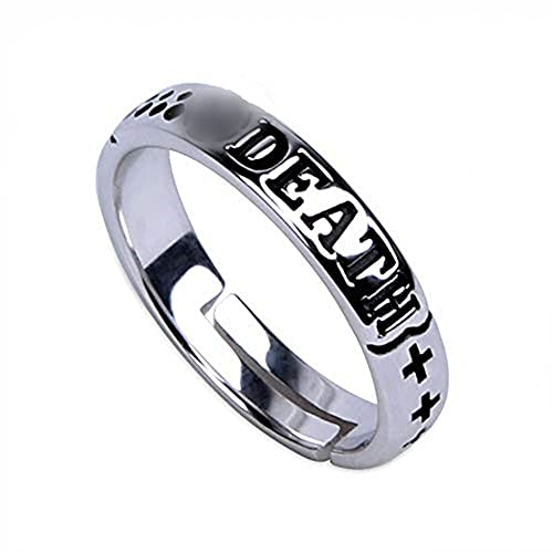 Hot Anime Death Trafalgar Law 925 Sterling Silver Ring Cosplay Gift S925 Props
