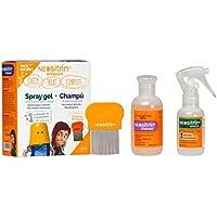 Neositrín - Pack Champú (100ml) + Spray Gel (600ml) + Lendrera para Eliminar Piojos y Liendres