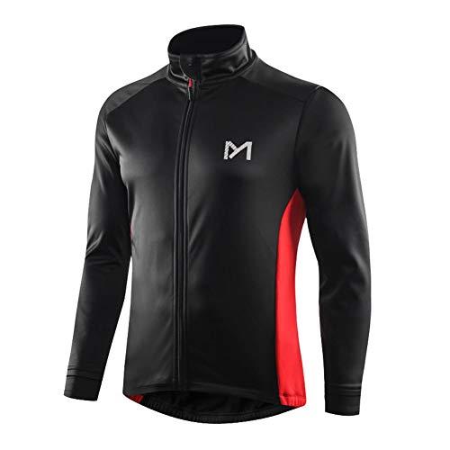 MEETYOO Thermo Jacke Herren, Fahrradjacke Atmungsaktiv Softshelljacken Männer Windjacken für Radsport Mountainbike Winter