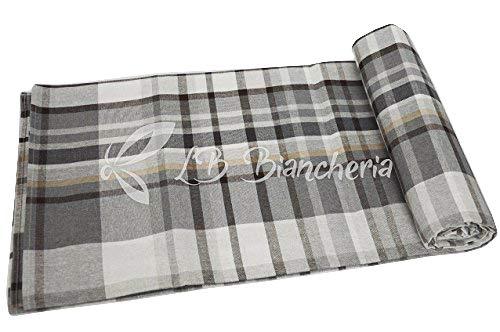 R.P. Sprei Miros Scozia Tirolese – bed Frans type Ikea – grijs